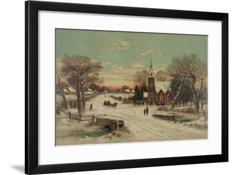 Going to Church, Christmas Eve- J. Hoover & Son-Framed Art Print