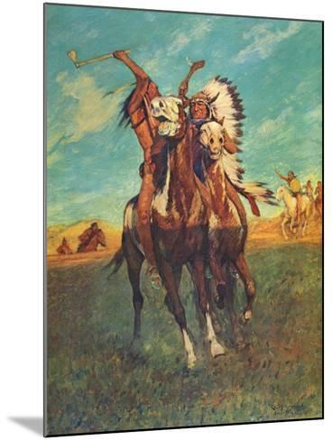 Fight to the Finish-Charles Shreyvogel-Mounted Art Print