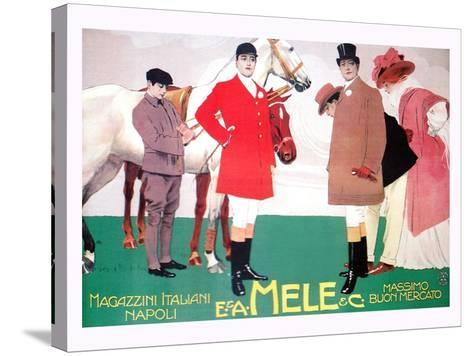 Fashion for the Equestrian Set of Wealthy Patrons-Leopoldo Metlicovitz-Stretched Canvas Print