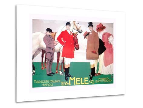 Fashion for the Equestrian Set of Wealthy Patrons-Leopoldo Metlicovitz-Metal Print