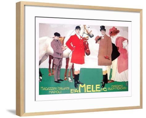Fashion for the Equestrian Set of Wealthy Patrons-Leopoldo Metlicovitz-Framed Art Print