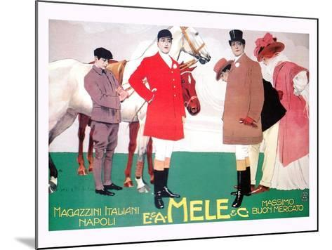 Fashion for the Equestrian Set of Wealthy Patrons-Leopoldo Metlicovitz-Mounted Art Print