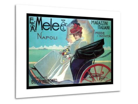 Carriage Ride by the Shore-Aleardo Villa-Metal Print