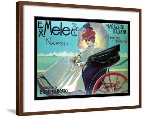 Carriage Ride by the Shore-Aleardo Villa-Framed Art Print