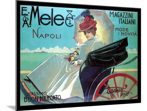 Carriage Ride by the Shore-Aleardo Villa-Mounted Art Print