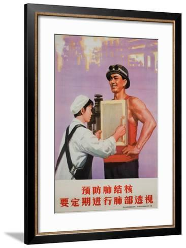 Nurses Give Our Workers Chest X-Rays for Tb Prevention--Framed Art Print