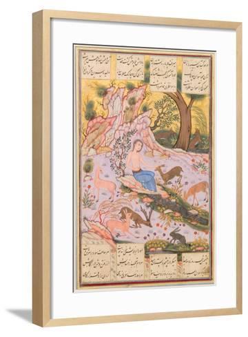 Care for a Deer--Framed Art Print