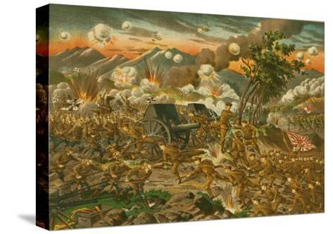 Battle of Ussuri--Stretched Canvas Print