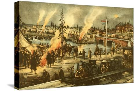 Camping of the Expeditionary Army in Siberia--Stretched Canvas Print