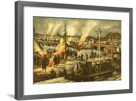 Camping of the Expeditionary Army in Siberia--Framed Art Print