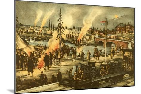 Camping of the Expeditionary Army in Siberia--Mounted Art Print