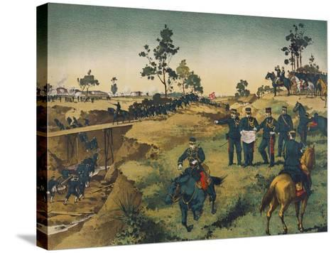 Japanese Troops Assault Japanese in China--Stretched Canvas Print