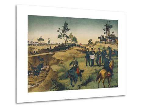 Japanese Troops Assault Japanese in China--Metal Print