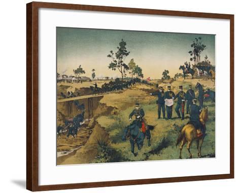 Japanese Troops Assault Japanese in China--Framed Art Print