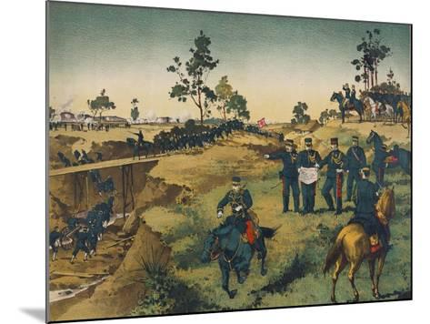 Japanese Troops Assault Japanese in China--Mounted Art Print