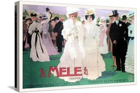 Mele Fashion for the Wealthy at the Races-Leopoldo Metlicovitz-Stretched Canvas Print