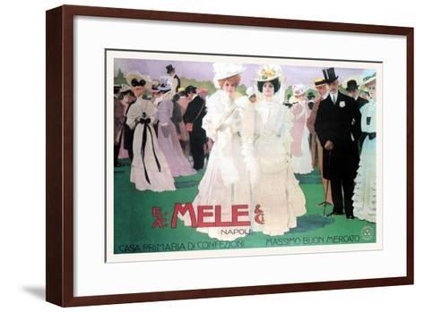 Mele Fashion for the Wealthy at the Races-Leopoldo Metlicovitz-Framed Art Print