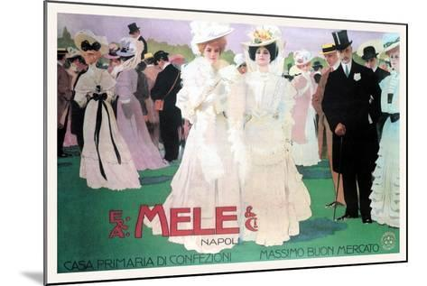 Mele Fashion for the Wealthy at the Races-Leopoldo Metlicovitz-Mounted Art Print