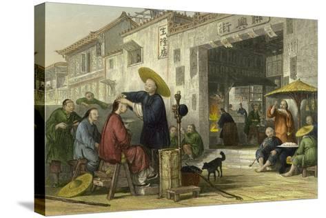 Itinerant Barber-Thomas Allom-Stretched Canvas Print