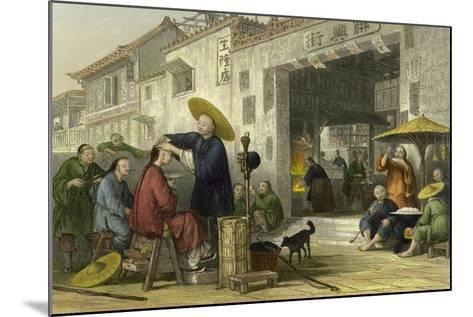 Itinerant Barber-Thomas Allom-Mounted Art Print