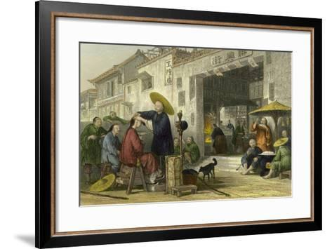 Itinerant Barber-Thomas Allom-Framed Art Print