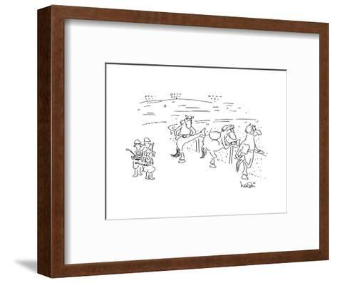 Cartoon-Arnie Levin-Framed Art Print