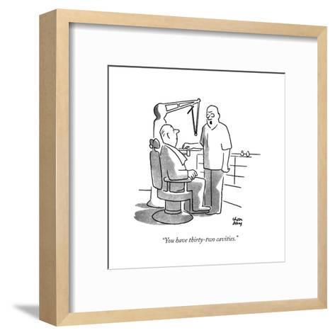 """You have thirty-two cavities."" - New Yorker Cartoon-Chon Day-Framed Art Print"