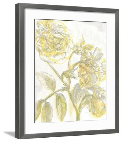 Belle Fleur Yellow I Crop-Sue Schlabach-Framed Art Print