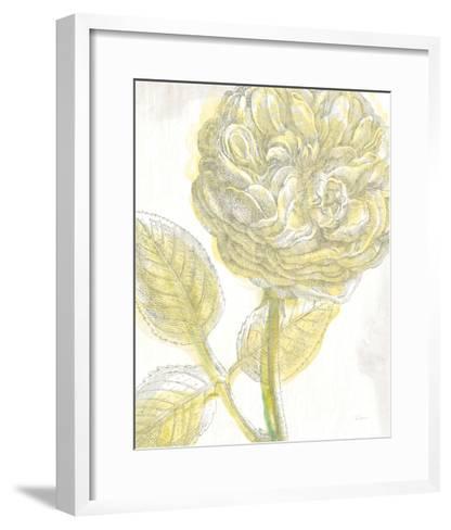 Belle Fleur Yellow III Crop-Sue Schlabach-Framed Art Print