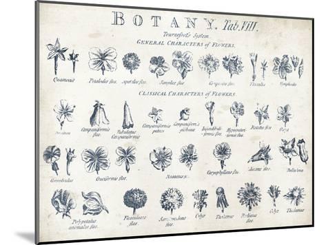 Botany Tab VIII Indigo and White-Wild Apple Portfolio-Mounted Art Print