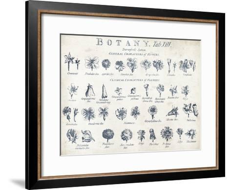 Botany Tab VIII Indigo and White-Wild Apple Portfolio-Framed Art Print