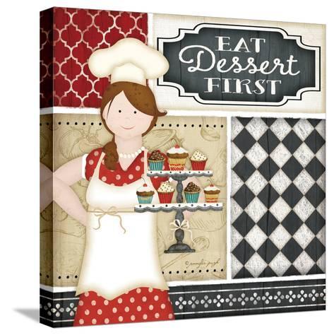 Bistro Chef-Jennifer Pugh-Stretched Canvas Print
