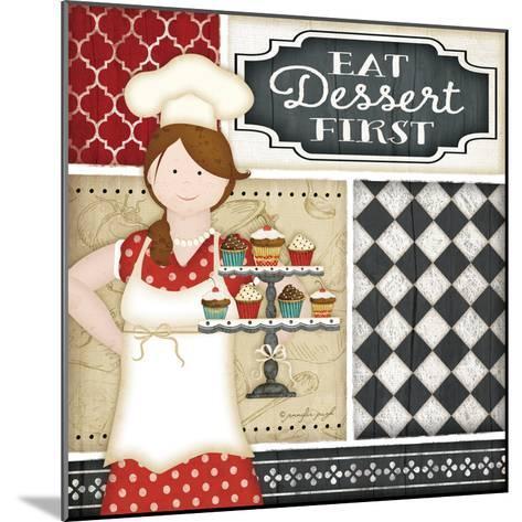 Bistro Chef-Jennifer Pugh-Mounted Art Print