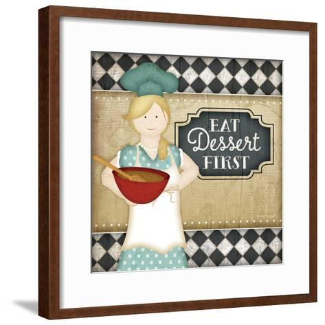 Bistro Chef Dessert-Jennifer Pugh-Framed Art Print