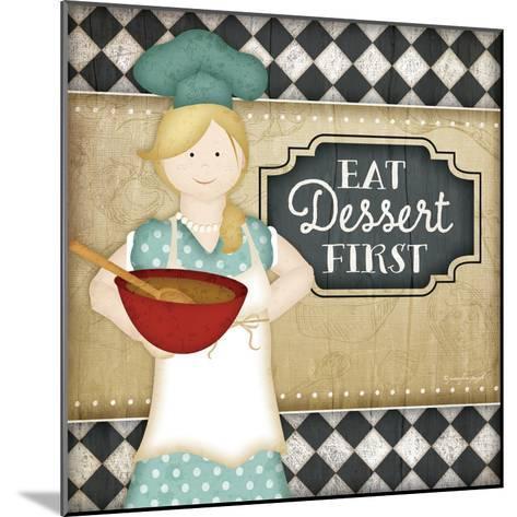 Bistro Chef Dessert-Jennifer Pugh-Mounted Art Print