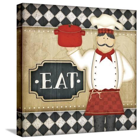 Bistro Chef Eat-Jennifer Pugh-Stretched Canvas Print
