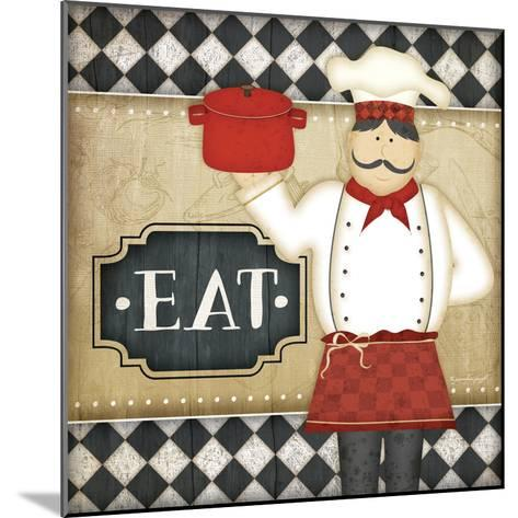 Bistro Chef Eat-Jennifer Pugh-Mounted Art Print