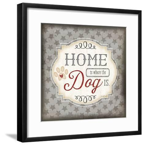 Home Is Where the Dog Is-Jennifer Pugh-Framed Art Print