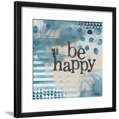Be Happy Blue-Katie Doucette-Framed Art Print
