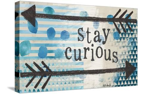 Stay Curious Blue-Katie Doucette-Stretched Canvas Print