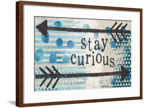 Stay Curious Blue-Katie Doucette-Framed Art Print