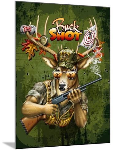 Deer Buck Shot-Jim Baldwin-Mounted Art Print