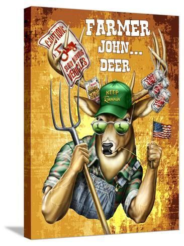 Deer John Deer-Jim Baldwin-Stretched Canvas Print