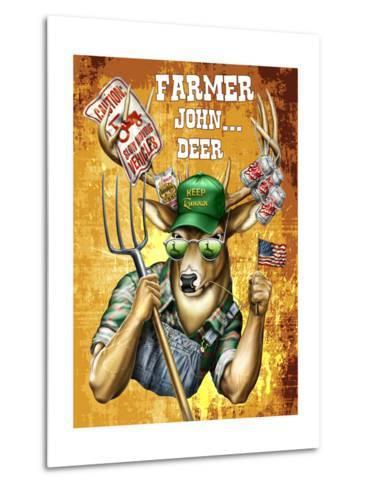 Deer John Deer-Jim Baldwin-Metal Print