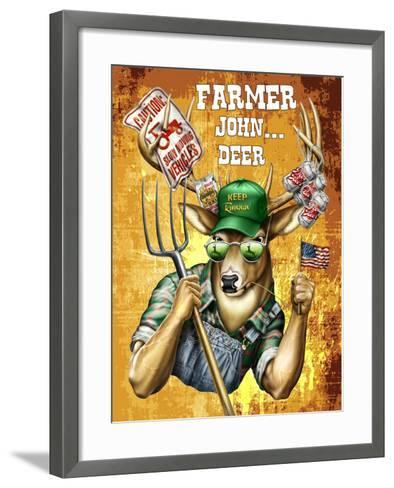 Deer John Deer-Jim Baldwin-Framed Art Print