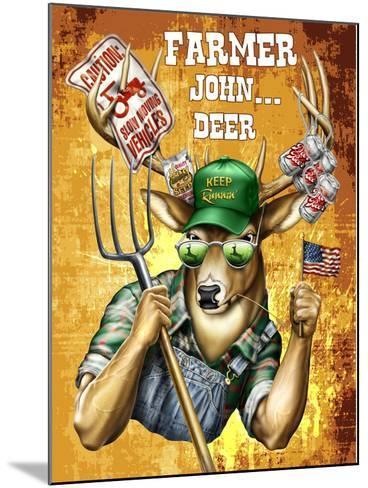 Deer John Deer-Jim Baldwin-Mounted Art Print