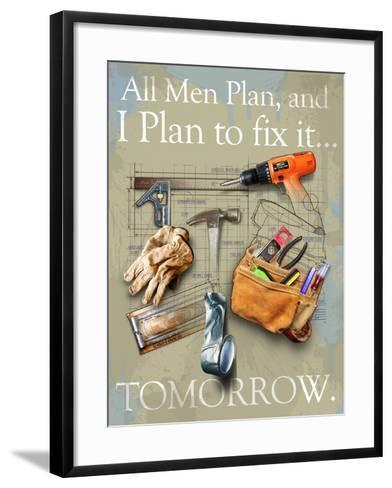 Tools Old Bag-Jim Baldwin-Framed Art Print
