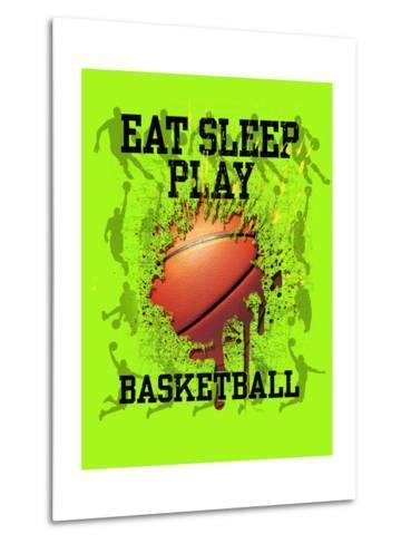 Eat Sleep Play Basketball-Jim Baldwin-Metal Print