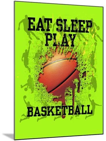 Eat Sleep Play Basketball-Jim Baldwin-Mounted Art Print
