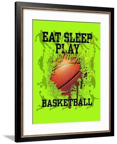 Eat Sleep Play Basketball-Jim Baldwin-Framed Art Print